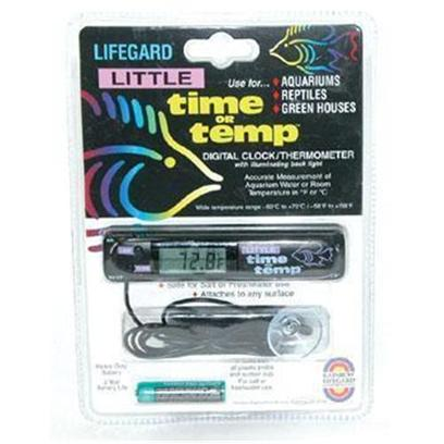 Lifegard Aquatics Presents Lifegard Aquatics (Lfgd) Little Time or Temp. A Digital Clock/Thermometer with Illuminating Light for Accurate Measurement of Aquarium Water or Room Temperature in F or C. R270778 [34789]