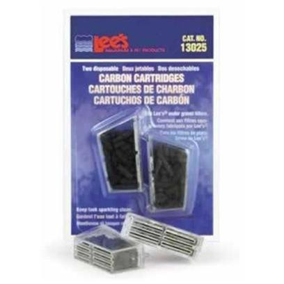 Lee's Presents Lees U.G. Carbon Cartridge-Mini &amp; Standard 2 Pack. Easy to Install Cartridges are Filled with High Grade, Activated Carbon. Use with Lee's under Gravel Filter Elbows. Keeps Tank Sparkling Clean. Packaging 2/Blister Card [34873]
