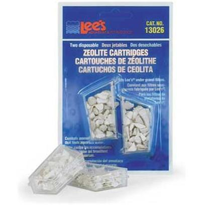Lee's Presents Lees Ug Zeolite Cartridge-Mini/Standard Mini/Standard. An Easy-to-Install Cartridge that Solves the Common Problem of Ammonia Build-Up that Fouls Aquarium Water and Destroys Livestock. The Disposable Zeolite Cartridge is Designed to Fit our Economy, Original or Premium under Gravel Filters. For Optimal Performance, it is Recommended that you Replace your Cartridges Every 2-3 Weeks. [34880]