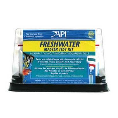 Aquarium Pharmaceuticals Presents Aquarium Pharmaceuticals (Ap) Test Kit Fw Master Freshwater. Freshwater Master Test Kit is a Complete Kit for Testing Tap Water & Aquarium Water.Tests Water 6 Different Ways to Protect Tropical Fish from Dangerous Water Conditions.Tests Include Freshwater Ph, Ammonia, Nitrite, High Range Ph, Gh & Kh, 4 Test Tubes, Tray. Tests Include Freshwater Ph, High Range Ph, Ammonia, Nitrite, Gh (General Hardness) and Kh (Carbonate Hardness). Kit Features 4 Test Tubes, a Holding Tray for Testing Bottles and Test Tube Rack. [35099]