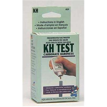 Aquarium Pharmaceuticals Presents Aquarium Pharmaceuticals (Ap) Test Kit Fwith Sw Carb Hardnes Freshwater/Saltwater Kh/Carbonate Hardness. Tests Tap Water & Fresh or Saltwater Aquariums for Carbonate Hardness (Kh). Helps Prevent Fish Stress Caused by Rapid Ph Shifts, the Result of Low Levels of Kh. Box of One Test Kit [35103]