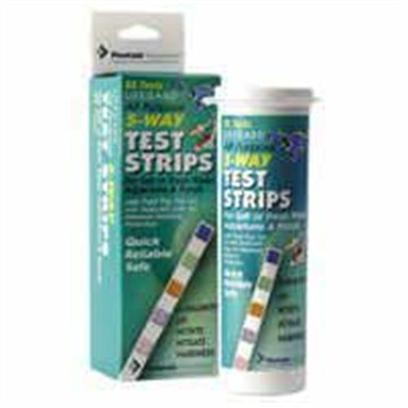 Lifegard Aquatics Presents Lifegard Aquatics (Lfgd) 5 Way Test Strips 5-Way. These State of the Art Strips Help Ensure Proper Water Environment for your Indoor or Outdoor Fish and Plants. Each Vial Features a Leak Proof, Hinged Pop-Top Lid and a Wrap Around Desiccant Liner to Protect Strips from Moisture Intrusion. [35137]