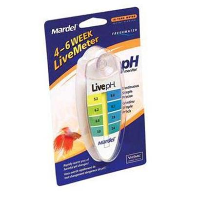 Virbac Presents Mardel Liveph Meter in Tank. The Liveph Meter Helps you Maintain Healthy Water by Constantly Monitoring Ph and Providing Immediate Response to Harmful Ph Changes. Meter will Operate Accurately for 4-6 Weeks. Single Pack [35150]