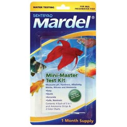 Virbac Presents Mardel Mini Mstr Test Kit 8pk Master 8 Pack. Test your Aquarium Water for Ph, Hardness, Alkalinity, Nitrite, Nitrate, and Ammonia the Quick, Easy, Accurate, and Safe Way with the Mardel Master Test Kit. These Easy to Use Strips Deliver Results in just One Minute or Less. 8 Pc [35153]