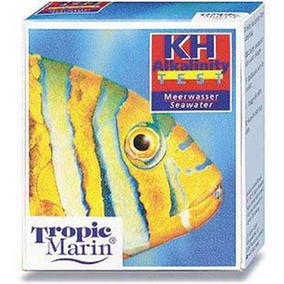 Tropic Marin Presents T Marin Test Kit Saltwater Kh. For the Determination of the Carbonate Hardness or the Alkalinity in Seawater. The Carbonate Hardness or Alkalinity Corresponds to the Buffer Capacity of the Aquarium Water and Therefore Determines the Stability of the Ph-Value in the Water. With these Tests the Carbonate Hardness and Alkalinity can be Measured with Precision in Dkh. The Test Liquids Show a Pronounced and Obvious Color Change and are Sufficient for Approx. 100 Tests. [35194]