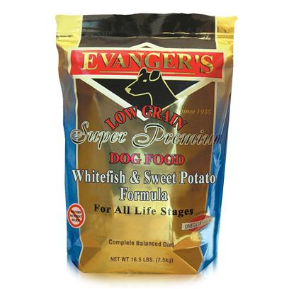 Evanger's Presents Evanger's Dry Dog Food-Whitefish/Sweet Potato 4.4lb Bag. Evanger's Whitefish and Sweet Potatoes Dog Food is Another Healthy Meal that your Pet is Sure to Enjoy. Packed with Proteins and Carbohydrates, your Dog will Get the Energy Boost he Needs. Dogs are Sensitive to Allergens and Other Diseases, so to Make Sure that they are Safe, Evanger's Ensures that the Food they Provide is Packed with the Nutrients Needed to Strengthen an Animal's Immune System. Evanger's Whitefish and Sweet Potatoes is Definitely Proof that Showing how Much you Care for your Pet can be Delivered in a Tasty Package. [35365]