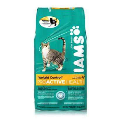 P&amp;G Presents Iams Proactive Health Adult Weight Control Cat Food 6.8 Lbs. Energizing and Slimming through Complete Nutrition Iams Weight Control is the Healthy Way to Help Pets Lose Weight without Losing Energy. Formulated with 10% Less Fat than Original Formulas, this Vet-Recommended Diet Contains a Special Blend of Carbohydrates in Combination with the Fat-Burner L-Carnitine to Keep Pets Energized and Feeling Full, so they can Gradually Return to a Healthier Weight. Enhanced with Vitamins, Minerals and Energy-Boosting Amino Acids for 100% Complete and Balanced Nutrition for Life.&gt; [37997]