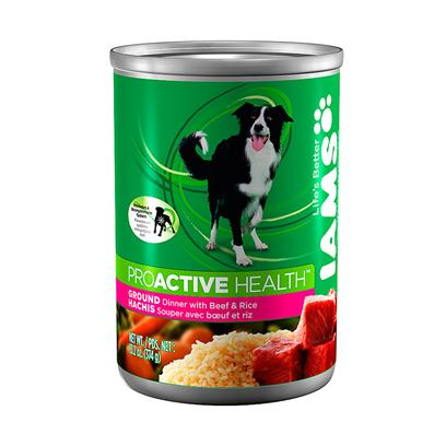 P&amp;G Presents Iams Dog Din 12/13.2oz Cans 13.2oz Cans/Case of 12. Iams' Dog Dinner is a Perfect Way to Satisfy not only your Pet's Taste Buds but also his Nutrient Needs. Using only the Finest Selection of Meats, Such as Chicken, Lamb, Beef and Turkey, and Combined with Rice, this Dinner Treat is Packed with all the Good Things that Keep Him Healthy. And with so Many Different Flavors, there's Something for Everyone. Available in Distinct Formulas for Adults and Puppies, Iams' Dinner Meals are a Great Way to Give your Pet Excellent Quality of Life. Iams Dog Din Turkey &amp; Ricee 12/13.2 Oz Primary Protein Sourceturkey Primary Carb Sourceturkey Analysiscrude Protein (Minimum)9.00%Crudr Fat (Minimum)6.00%Crude Fiber (Maximum)1.00%Moisture (Maximum)78.00%Omega 6 Fatty Acid (Minimum)0.80%Omega 3 Fatty Acid (Minimum)0.10% Iams Dog Din Lamb &amp; Rice 12/13.2 Oz Primary Protein Sourcelamb Primary Carb Sourcelamb Analysiscrude Protein (Minimum)9.00%Crudr Fat (Minimum)6.00%Crude Fiber (Maximum)1.00%Moisture (Maximum)78.00%Omega 6 Fatty Acid (Minimum)0.80%Omega 3 Fatty Acid (Minimum)0.10% Iams Dog Din Chicken &amp; Rice 12/13.2 Oz Primary Protein Sourcechicken Primary Carb Sourcechicken Analysiscrude Protein (Minimum)9.00%Crudr Fat (Minimum)6.00%Crude Fiber (Maximum)1.00%Moisture (Maximum)78.00%Omega 6 Fatty Acid (Minimum)0.80%Omega 3 Fatty Acid (Minimum)0.10% Iams Dog Din Beef &amp; Rice 12/13.2 Oz Primary Protein Sourcebeef Primary Carb Sourcebeef Analysiscrude Protein (Minimum)9.00%Crudr Fat (Minimum)6.00%Crude Fiber (Maximum)1.00%Moisture (Maximum)78.00%Omega 6 Fatty Acid (Minimum)0.80%Omega 3 Fatty Acid (Minimum)0.10% [35558]