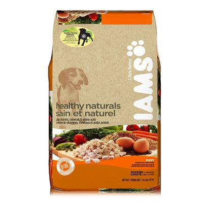 P&amp;G Presents Iams Healthy Naturals Puppy-Chicken 6.1 Lbs. Iams Healthy Naturals Puppy Offers More Protein* for a Growing Puppy and Takes the Best of Nature to Provide Unsurpassed Nutrition with 9 Key Ingredients High-Quality Protein from Chicken and Egg to Help Build and Maintain Strong Muscles, Carrots for Healthy Vision, Vitamin E and Antioxidants, Including Those from Tomatoes and Peas to Promote a Strong Immune System, Spinach and Essential Vitamins and Minerals for a Strong and Healthy Heart, Natural Fiber from Apples and Beets for a Healthy Digestive System, Fish Oil and Flaxseed, Rich in Omega-3 Fatty Acids, for a Healthy Skin and Shiny Coat, Wholesome Grains to Provide Energy and Vitality, and Natural Calcium for Strong Teeth and Bones. It Contains Choice Natural Ingredients to Nourish Each of your Puppy's Key Systems. And as Nature Intended, it has no Added Artificial Colors, Flavors, Preservatives, or Fillers.*Vs Iams Healthy Naturals with Wholesome Chicken [37987]