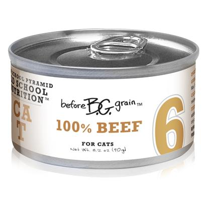 Merrick Pet Care Presents Before Grain Buffalo Beef Canned Cat Food 5.5oz Cans-24 Pack. Before Grain Cat Food from Merrick is a Superb Way to Ensure your Cat Gets only the Best Healthy Food. Made from the Finest all-Natural Ingredients, the Rich Mixture of Healthy Oils, Fresh Vegetables and Fine Quality Meats is Sure to Boost her Vitality. Known also to be a Delicious Meal, Before Grain Features Different Meaty Flavors Such as Salmon, Chicken, Turkey, Tuna, Quail and Buffalo. Another Certified Complete and Balanced Meal, Before Grain will Definitely Become a Fast Favorite in any Household. Primary Protein Source Beef Primary Carb Source Beef Analysis Crude Protein (Min.) 10.5%, Crude Fat (Min.) 3.5%, Crude Fiber (Max.) 1.4%, Moisture (Max.) 78.0%. Calorie Content 846 Kcal/Kg - a 3.2 Oz. Can Provides 76 Kcal of Metabolizable Energy, Calculated Value. [35657]