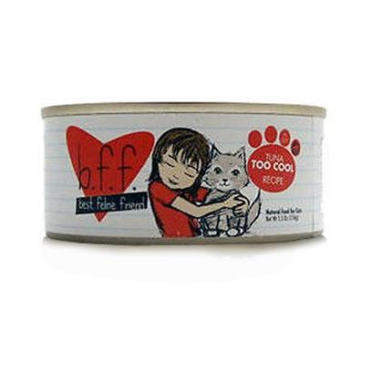 Weruva Presents Best Feline Friend Tuna Too Cool Tray 3oz Trays-12 Pack. Bff Cat Food is the Purr-Fect Meal to Keep your Pet Happy and Healthy. Meeting the Aafco Nutritional Profile Requirements for Adult Maintenance, this Meal is Certified to be Complete and Balanced in Nutrients to Boost your PetS Energy and Maintain Vitality. Available in Great Flavors Like Tuna, Tuna and Shrimp, Tuna and Salmon, Tuna and Tilapia, Tuna and Vegetables, and Tuna and Chicken, your Cat is Sure to Find a New Favorite!Best Feline Friend Cat Food is a Great Choice for the Discerning Pet Owner. Primary Protein Source Tuna Analysis Moisture (Max)83.00% Crude Protein (Min)12.00% Crude Fat (Min)2.00% Crude Fiber (Max)0.20% Ash (Max)2.00% Taurine (Min)0.05% Calcium (Max)0.25% Magnesium (Max)0.13% Phosphorus (Max)0.20% [35660]