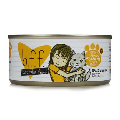 Weruva Presents Best Feline Friend Tuna and Salmon Soulmates Canned Cat Food 5.5oz Trays-8 Pack. Bff Cat Food is the Purr-Fect Meal to Keep your Pet Happy and Healthy. [35663]