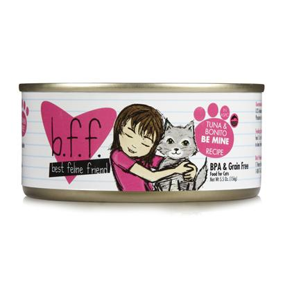 Weruva Presents Best Feline Friend-Tuna and Bonito be Mine Canned Cat Food 5.5oz Cans/Case of 8. Bff Cat Food is the Purr-Fect Meal to Keep your Pet Happy and Healthy. [35665]