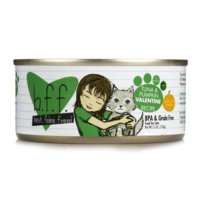 Weruva Presents Best Feline Friend-Tuna and Pumpkin Valentine Canned Cat Food 5.5oz Cans/Case of 8. Bff Cat Food is the Purr-Fect Meal to Keep your Pet Happy and Healthy. [35669]