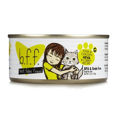 Weruva Presents Best Feline Friend Tuna/Chicken 4-Eva Tray 3oz Cans/Case of 12. Bff Cat Food is the Purr-Fect Meal to Keep your Pet Happy and Healthy. Meeting the Aafco Nutritional Profile Requirements for Adult Maintenance, this Meal is Certified to be Complete and Balanced in Nutrients to Boost your Pet'S Energy and Maintain Vitality. Available in Great Flavors Like Tuna, Tuna and Shrimp, Tuna and Salmon, Tuna and Tilapia, Tuna and Vegetables, and Tuna and Chicken, your Cat is Sure to Find a New Favorite!Best Feline Friend Cat Food is a Great Choice for the Discerning Pet Owner. Primary Protein Source Tuna Primary Carb Source Tuna Analysis Crude Protein (Min)12.00% Crude Fat (Min)2.00% Crude Fiber (Max)0.20% Moisture (Max)83.00% Ash (Max)2.00% Taurine (Min)0.05% Calcium (Max)0.25% Magnesium (Max)0.13% Phosphorus (Max)0.20% [35672]