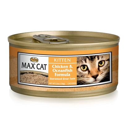 Nutro Presents Nutro Max Kitten Canned Food 3oz Cans/Case of 24. Providing only the Best Food for your Pet in all Stages of her Life,Nutro Max has been Formulated to Meet Nutrition Needs. Using only the Finest all-Natural Ingredients, Nutro Max Supports your Pet Throughout her Life. Your CatS Dietary Needs are Essential to her Health and Happiness and the Great Tasting Blend of Meats and Vegetables in Nutro Max is Designed to Meet Those Needs. Available with Great Flavors Like Chicken and Fish, Chicken and Liver, and Turkey and Giblets, your Pet is Sure to Find a New Favorite. Nutro Max Cat Food is a Perfect Way to Delight your CatS Taste Buds and Help her Maintain her Vitality. Primary Protein Source Chicken Primary Carb Source Chicken Analysis Crude Protein (Min) 10% Crude Fat (Min) 7% Crude Fiber (Max) 1% Moisture (Max) 77% Ash (Max) 2.5% Linoleic Acid (Min) 0.5% [35676]