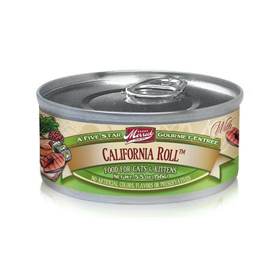 Merrick Pet Care Presents Merrick California Roll Canned Cat Food 3.2oz can/Case of 24. California Roll Canned Cat Food by Merrick is a Fantastic Way to Give your Cat some California Lovin. Named After the Famous Sushi Dish, Expect this Meal to Make your Cat Purr with Delight at the Blend of its Fresh Natural Ingredients. The Flavorful Blend of Salmon, Tuna and Crab Mixed with Cucumbers, Fresh Apples and Carrots, is Sure to Entice your CatS Taste Buds and Give her a Refreshing Feel with Every Bite. A Great Way to Pamper your Pet, MerrickS California Roll Canned Cat Food is Made not only to Meet Dietary Needs but also to Give that Cool California Feel. Primary Protein Source Salmon Primary Carb Source Salmon Analysis Crude Protein10.00% Crude Fat3.00% Crude Fiber1.50% Moisture78.00% [35701]