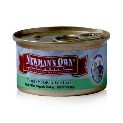 Newman's Own Presents Newman's Own Turkey Canned Cat Food 5.5oz Cans-Case of 24. Finding the Purr-Fect Cat Food can be Tricky, but NewmanS Own Fits the Bill. Made from all-Natural Ingredients that are Free from Chemical Treatment, your Cat is Assured a Great Tasting, Healthy Meal. Containing only the Freshest Blend of Meats, Vegetables and Brown Rice, this Meal is Certified as not only Nutritious but Delicious and is Available in Great Flavors Like Chicken and Rice, Chicken and Salmon and Turkey and Vegetables. Both you and your Cat will Love the Great Option of NewmanS Own Cat Food. Primary Protein Source Turkey Primary Carb Source Turkey Analysis Crude Protein Min10.00% Crude Fat Min7.00% Crude Fiber Max1.00% Moisture Max78.00% [35737]