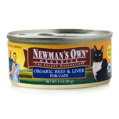 Newman's Own Presents Newman's Own Organics Canned Cat Food-3oz Cans/Case of 24 Beef/Liver. A Perfect Organic Meal that your Pet will Surely Love is NewmanS Own Organics. Made from the Finest Choice of Meats, Vegetables and Healthy Oils, the Perfect Blend of Flavors in this Meal is Sure to Please your PetS Taste Buds. With no Chemical Treatments this Meal is Certified Safe for Consumption and is Available in Great Flavors Like Beef and Liver. To Make Sure your Pet Gets only the Best for her Health, NewmanS Own Organics is the Best Choice for a Discerning Pet Owner. Primary Protein Source Beef Analysis Crude Protein (Min)10.00% Crude Fat (Min)3.00% Crude Fiber (Max)1.00% Moisture (Max)82.00% Ash (Max)1.00% Magnesium (Max)0.02% Taurine (Min)0.07% [35744]
