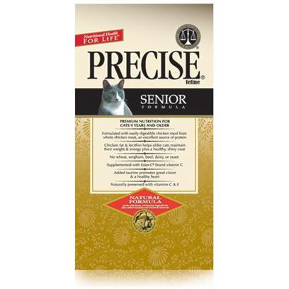 Precise Presents Precise Feline Senior 24/5.5oz. Help your Cat Grow Old Gracefully with the Right Dietary Formula Found in Precise Feline Senior. Made to Help your Pet Maintain a Healthy Body, Precise Feline Senior is Packed with the Necessary Vitamins and Minerals to Keep her Happy, Healthy and her Energy Up, as if she were Still Young. Using only 100% Natural Ingredients, this Meal Promotes a Healthy Digestive Tract and Immune System. Another Fantastic Formula Designed to Keep your Pet Healthy, Precise Feline Senior is a Great Way to Help her Maintain her Quality of Life. [35753]