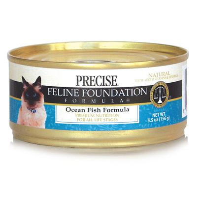 Precise Presents Precise Feline Ocean Fish 24/5.5oz. A Great Tasting Meal Fit for a Queen; your Cat will Surely Love Precise's Feline Mixed Grill, Ocean Fish and Growth Turkey. Containing a Rich Blend of Meats Sealed to Keep in Freshness, the Sweet Aroma of this Meal will Definitely be Irresistible. Rich in Protein and Containing no Added by-Products, this Meal is Sure to Keep your Cat Happy and Healthy, Starting with her Muscle and Bone Development. A Delicious Meal that's Sure to Boost her Appetite, Precise Feline is a Great Choice for the Discerning Pet Owner [35756]