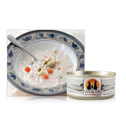 Weruva Presents Weruva Grandma's Chicken Soup Canned Cat Food Gourmet 24/5.5oz. Just Like Grandma Used to Make... Home Cooked Boneless, Skinless White Breast Chicken with Good Ole' Veggies in Soup, Yummy! Made with Chicken Breast Free of Added Hormones and also Cage Free. [35799]