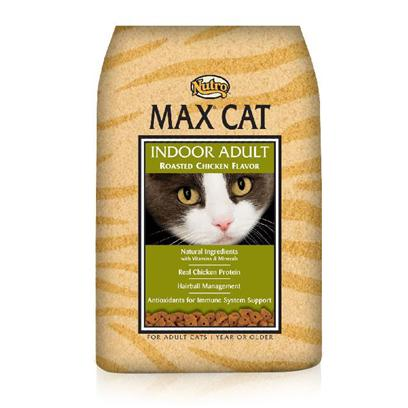 Nutro Presents Nutro Max Cat Indoor Roasted Chicken Food 16lb Bag. Made to Delight Even the Pickiest Cat,Nutro Max Cat Food is a Delicious Way to Provide your Pet with the Nutrients she Needs. Made from only Natural Ingredients, this Meal is Fortified with Vitamins and Minerals to Keep your Cat Happy and Healthy. Packed with Taurine, Nutro Max Keeps her Energy High and her Vitality Strong. With the Right Combination of Nutrients and a Rich Flavorful Blend of High Quality Ingredients, Nutro Max is a Great Way to Feed your Cat to Good Health. Primary Protein Source Chicken Primary Carb Source Chicken Analysis Crude Protein (Minimum)30.00% Crude Fat (Minimum)15.00% Crude Fiber (Maximum)4.00% Moisture (Maximum)10.00% Ash (Maximum)6.75% Linoleic Acid (Minimum)4.00% Taurine (Minimum)0.16% [35859]