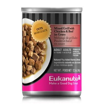 P&amp;G Presents Eukanuba Dog Cut Mixed Grill with Chickenk/Beef Canned Food 12.3oz Cans/Case of 12. Eukanuba Dog Cut Mixed Grill with Chickenk/Beef Canned Dog Food,your Dog will Beg for More! [35901]