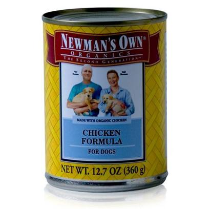 Newman's Own Presents Newman's Own Dog Chicken Canned Food 5.5oz Cans/Case of 24. Dogs Need Certain Nutrients to Help Maintain a Healthy Lifestyle, and with NewmanS Own theyRe Sure to Get what they Need. Made from Organic Ingredients and Available in Great Flavors Like Chicken and Brown Rice, Turkey and Brown Rice and Turkey and Chicken, your Dog will be Begging for More and youLl Know heS Getting a Healthy Meal. DonT Worry Anymore About Feeding your Pet, the Flavorful and Nutritious Blend of NewmanS Own Dog Food is a Great Way to Keep your Dog Active and Happy. Primary Protein Source Chicken Primary Carb Source Chicken Analysis Crude Protein 8.0% (Min) Crude Fat 6.0% (Min) Crude Fiber 1.0% (Max) Moisture 78.0% (Max) [35921]