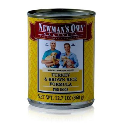 Newman's Own Presents Newman's Own Turkey/Brown Rice Canned Dog Food 5.5oz Cans/Case of 24. Dogs Need Certain Nutrients to Help Maintain a Healthy Lifestyle, and with Newman's Own they're Sure to Get what they Need. Made from Organic Ingredients and Available in Great Flavors Like Chicken and Brown Rice, Turkey and Brown Rice and Turkey and Chicken, your Dog will be Begging for More and You'll Know He's Getting a Healthy Meal. Don't Worry Anymore About Feeding your Pet, the Flavorful and Nutritious Blend of Newman's Own Dog Food is a Great Way to Keep your Dog Active and Happy. Primary Protein Source Turkey Primary Carb Source Turkey Analysis Crude Protein 8.0% (Min)Crude Fat 6.0% (Min)Crude Fiber 1.0% (Max)Moisture 78.0% (Max) [35925]