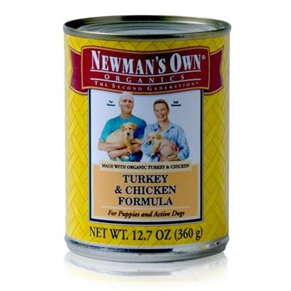 Newman's Own Presents Newman's Own Turkey/Chicken Canned Dog Food 12.7oz Cans/Case of 12. Dogs Need Certain Nutrients to Help Maintain a Healthy Lifestyle, and with Newman's Own they're Sure to Get what they Need. Made from Organic Ingredients and Available in Great Flavors Like Chicken and Brown Rice, Turkey and Brown Rice and Turkey and Chicken, your Dog will be Begging for More and You'll Know He's Getting a Healthy Meal. Don't Worry Anymore About Feeding your Pet, the Flavorful and Nutritious Blend of Newman's Own Dog Food is a Great Way to Keep your Dog Active and Happy. Primary Protein Source Turkey/Chicken Primary Carb Source Turkey/Chicken Analysis Crude Protein 8.0% (Min)Crude Fat 6.0% (Min)Crude Fiber 1.0% (Max)Moisture 78.0% (Max) [35926]