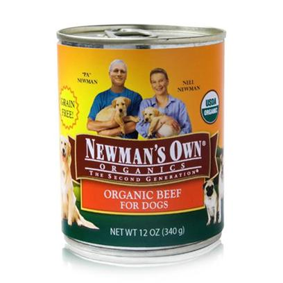 Newman's Own Presents Newman's Own Organics Beef Canned Dog Food 12/12oz. Newman's Own Organics Beef Canned Dog Food, a Perfect Organic Meal that your Pet will Surely Love. [35927]