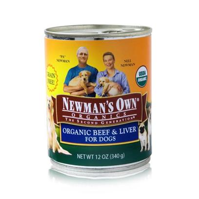 Newman's Own Presents Newman's Own Organics Beef/Liver Canned Dog Food 12oz Cans/Case of 12. Newman's Own Organics Beef/Liver Canned Dog Food. A Perfect Organic Meal that your Pet will Surely Love is NewmanS Own Organics. Made from the Finest Choice of Meats, Vegetables and Healthy Oils, the Perfect Blend of Flavors in this Meal is Sure to Please your PetS Taste Buds. With no Chemical Treatments this Meal is Certified Safe for Consumption and is Available in Great Flavors Like Beef and Liver. To Make Sure your Pet Gets only the Best for her Health, NewmanS Own Organics is the Best Choice for a Discerning Pet Owner. [35928]