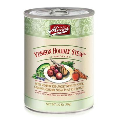 Merrick Pet Care Presents Merrick Venison Holiday Stew Canned Dog Food 13.2oz Cans/Case of 12. Merrick Venison Holiday Stew Canned Dog Food, a Combination of Venison and Fresh Vegetables, this Rich Mix of Flavors is Sure to Leave your Dog Wanting More. [35931]