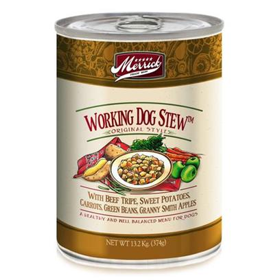 Merrick Pet Care Presents Merrick Working Dog Stew Canned Food 13.2oz Cans/Case of 12. Merrick Working Dog Stew Canned Dog Food is a Great Meal Designed to Increase your PetS Energy. [35932]
