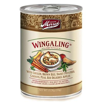 Merrick Pet Care Presents Merrick Wing a Ling Canned Dog Food 13.2oz Cans/Case of 12. Merrick Wing a Ling Canned Dog Food,with Chicken as its Main Ingredient, this Meal has Undergone a Healthy Cooking Process that Softens Even Chicken Bones for Consumption and that Extra Great Taste. [35935]
