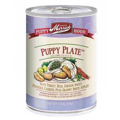 Merrick Pet Care Presents Merrick Puppy Plate Canned Dog Food 3.2oz - Case of 24. Merrick Puppy Plate Canned Dog Food, Great Taste for your Growing Puppy. [37538]