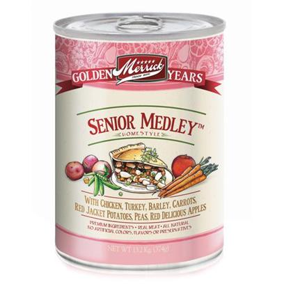 Merrick Pet Care Presents Merrick Senior Medley Canned Dog Food 3.2oz-Case of 24. Merrick Senior Medley Canned Dog Food, Great Taste for your Dogs Golden Years. [37539]