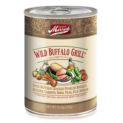Merrick Pet Care Presents Merrick Wild Buffalo Grill Canned Dog Food 13.2oz Cans/Case of 12. Merrick Wild Buffalo Grill Canned Dog Food is Healthy and Nutritious, not to Mention Delicious. [35939]