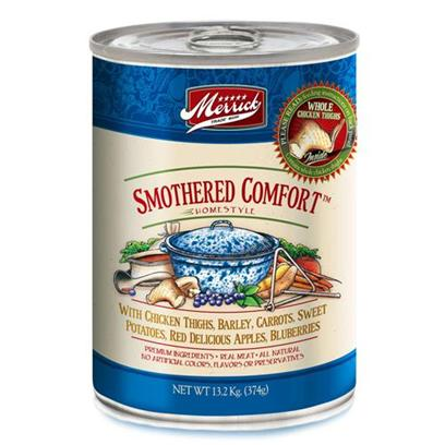 Merrick Pet Care Presents Merrick Smothered Comfort Canned Dog Food 13.2oz Cans/Case of 12. Smothered Comfort Canned Dog Food is Another Great Tasting Meal from Merrick that is Packed with Vitamins and Minerals. [35940]