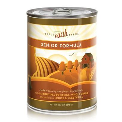 Merrick Pet Care Presents Merrick Whole Earth Farms Canned Dog Food Senior Dogs-13.2oz Cans/Case of 12. A Delectable Meal your Dog will Surely Enjoy, Whole Earth Farms is Merrick's Way of Taking Care of your Pet's Sensitive Health Needs. Designed to Cater to all Life-Stages, Puppy, Adult and Senior, Whole Earth Farms is Packed with the Right Nutrients Necessary to Keep Up with Dietary Needs. Made from a Rich Blend of Quality Meats, Healthy Oils and Fresh Vegetables, you can be Assured that your Pet will Enjoy Every Bite he Takes and be Healthy at the Same Time. Bring out the Champion in your Pet with Merrick's Whole Earth Farms Canned Dog Food. Primary Protein Source Chicken Primary Carb Source Chicken Analysis Crude Protein (Min.) 9.00%, Crude Fat (Min.) 6.00%, Crude Fiber (Max.) 1.50%, Moisture (Max.) 78.0%, Docosahexaenoic Acid Dha* (Min.) 250 Mg/Kg.Calorie Content 994 Kcal/Kg (Calculated) - a 13.2 Oz. Can Provides 378 Kcal of Metabolizable Energy, (Calculated). *Not Recognized as an Essential Nutrient by the Aafco Dog Nutrients Profile. [35956]