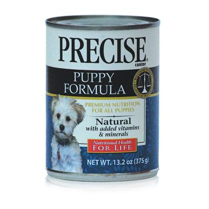 Precise Presents Precise Puppy Canned Dog Food 13.2oz Cans/Case of 12. Precise Puppy is a Perfect Meal to Start your Puppy on the Road to a Healthy Lifestyle. It is Important to Meet his Dietary Needs Before Introducing Him to Physical Activities, and Precise Puppy is Packed with all the Nutrients Needed to Boost his Energy and Promote Both Mental and Physical Development. Containing the Right Amount of Protein, this Meal is a Great Way to Help Muscle and Bone Development. Made to Provide your Pet with the Nutrients he Needs During his Early Stages of Life, Precise Puppy is a Meal Both Puppy and Owner will Love. [35997]