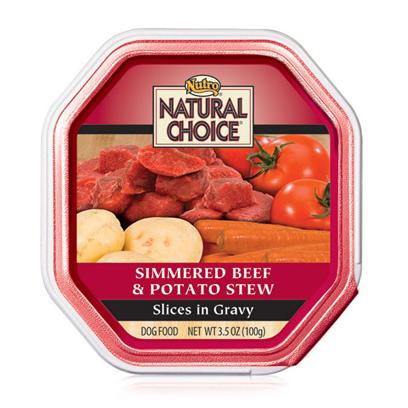 Nutro Presents Nutro Natural Choice Beef/Potato Recipe Slices in Gravy 3.5oz Cans/Case of 24. Providing only the Most Nutritious and Delicious Dog Food, Nutro Natural Choice Dog Food is a Great Way to Keep your Dog Healthy and Happy. Keeping your Pet Healthy Starts with the Food you Feed her and Nutro Natural Uses only the Finest Ingredients to Help Meet Nutrient Needs. Nutro Natural has been Prepared Holistically in a Myriad of Great Flavors Like Venison and Brown Rice, Lamb and Vegetable Stew, Chicken and Brown Rice, Beef and Potato Stew, Herring and Sweet Potato, Turkey and Vegetable, Turkey, Lamb and Pasta, Lamb and Rice, Chicken, Rice and Oatmeal, Lamb and Duck, and Lamb and Pasta to Tempt your PetS Taste Buds. Nutro Natural Choice is a Fantastic Meal Selection for the Discerning Pet Owner. [36006]