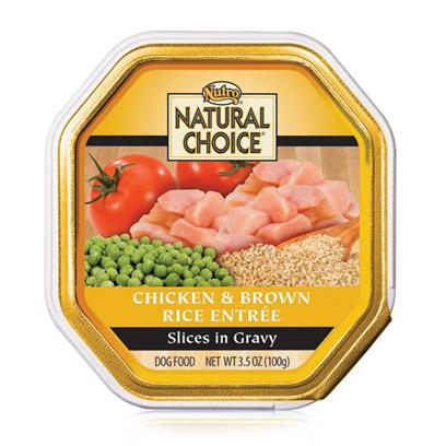 Nutro Presents Nutro Natural Choice Chicken &amp; Whole Brown Rice Recipe Small Breed Adult Dog Food 3.5oz-Case of 24. Natural Choice Small Breed Adult Chicken &amp; Whole Brown Rice Recipe Slices in Gravy Dog Food Helps Small Breed Dogs Stay Healthy and Strong. Our Wet Formula Contains no Artificial Colors, Flavors or Preservatives. Finicky Eaters will Enjoy the Taste of Real Chicken. And youLl Love how your Dog Looks with our Optimal Levels of Omega-6 Fatty Acid for Healthy Skin and Coats. ItS Premium Nutrition in a Wet Small Breed Dog Food. [36007]