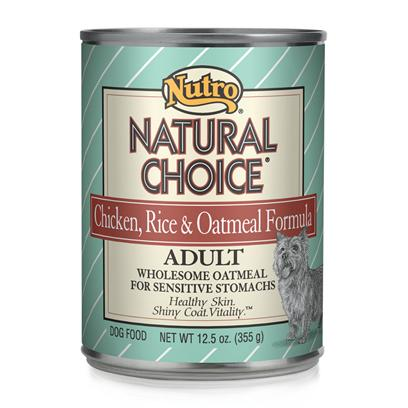 Nutro Presents Nutro Natural Choice Chicken/Rice/Oatmeal Dog Food 12.5oz Cans/Case of 12. Providing only the Most Nutritious and Delicious Dog Food, Nutro Natural Choice Dog Food is a Great Way to Keep your Dog Healthy and Happy. Keeping your Pet Healthy Starts with the Food you Feed her and Nutro Natural Uses only the Finest Ingredients to Help Meet Nutrient Needs. Nutro Natural has been Prepared Holistically in a Myriad of Great Flavors Nutro Natural Choice is a Fantastic Meal Selection for the Discerning Pet Owner. [36008]