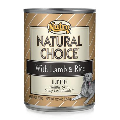 Nutro Presents Nutro Natural Choice Dog Food Lite 12.5oz Cans/Case of 12. Nutro Natural Choice Lite Dog Food is a Complete and Balanced Meal that'S Designed to Help your Dog Maintain his Vitality without Added Calories. Made from Quality Ingredients, this Meal is Packed with all the Nutrients Guaranteed to Keep your Pet Healthy and Strong. Prepared Using a Holistic Approach, the Meat and Vegetable Flavor has been Blended Perfectly to Excite your Pet'S Taste Buds. Formulated to Meet your Pet'S Dietary Needs without Excess Calories, Nutro Natural is the Perfect Meal to Help Maintain your Pet'S Weight. [36013]