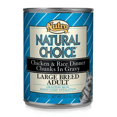 Nutro Presents Nutro Natural Choice Large Breed Lamb/Rice Dog Food 12/12.5oz. Natural Choice Limited Ingredient Diet Large Breed Adult Lamb &amp; Rice Formula Chunks in Gravy Dog Food is Formulated to Provide Complete and Balanced Nutrition for Adult Dogs More than 50 Lbs. We Include all of the Essential Vitamins and Minerals your Dog Needs to Support a Healthy Immune System and Overall Good Health. For a Great Taste, we Use Highly Digestible Rice and Real Lamb. We also Include Linoleic Acid and Zinc for Skin and Coat Health. ItS the Premium, Natural Nutrition your Large Breed Dog Deserves for a Healthy, Happy and Long Life. [36019]