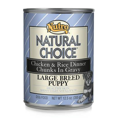 Nutro Presents Nutro Natural Choice Large Breed Puppy Lamb/Rice 12/12.5oz. Nutro Natural Choice Puppy Food is One of the Premier Choices for all Dog Breeds. With an Excellent Selection of Meats and Vegetables, Serving a Delicious and Nutritious Meal to your Pet is Easier than Ever. Guaranteed to Meet all your PetS Nutritional Needs and Aid Healthy Development, Nutro Natural Choice Comes in a Variety of Great Flavors Like Beef and Vegetable, Chicken and Rice and Oat, Lamb and Rice, Chicken and Oatmeal, and Chicken and Rice. Help your Puppy on the Road to a Good Lifestyle by Building Strong Bones and Muscles and Encouraging Both Mental and Physical Development with Nutro Natural Choice for Puppies. Primary Protein Source Lamb Primary Carb Source Lamb Analysis Crude Protein (Minimum) 9.00% Crude Fat (Minimum) 5.50% Crude Fiber (Maximum) 1.00% Moisture (Maximum) 80.00% Linoleic Acid (Minimum) 0.60% Calcium (Minimum) 0.29% Phosphorus (Minimum) 0.22% Zinc (Minimum) 55 Mg/Kg Vitamin E (Minimum) 50 Iu/Kg Ascorbic Acid (Vit. C) (Minimum)* 10 Mg/Kg Dha (Docosahexaenoic Acid) (Minimum)* 0.02% Alpha-Linolenic Acid (Ala) (Minimum)* 0.05% Glucosamine (Minimum)* 110 Mg/Kg Chondroitin Sulfate (Minimum)* 85 Mg/Kg *not Recognized as an Essential Nutrient by the Aafco Dog Food Nutrient Profiles. [36021]