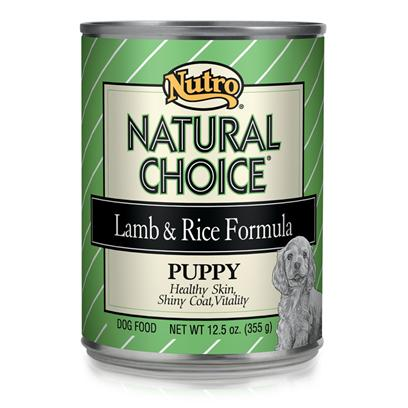 Nutro Presents Nutro Natural Choice Lamb & Rice Canned Puppy Food 12.5oz Cans/Case of 12. Nutro Natural Choice Puppy Food is One of the Premier Choices for all Dog Breeds. With an Excellent Selection of Meats and Vegetables, Serving a Delicious and Nutritious Meal to your Pet is Easier than Ever. Guaranteed to Meet all your Pet'S Nutritional Needs and Aid Healthy Development. Help your Puppy on the Road to a Good Lifestyle by Building Strong Bones and Muscles and Encouraging Both Mental and Physical Development with Nutro Natural Choice for Puppies. [36023]