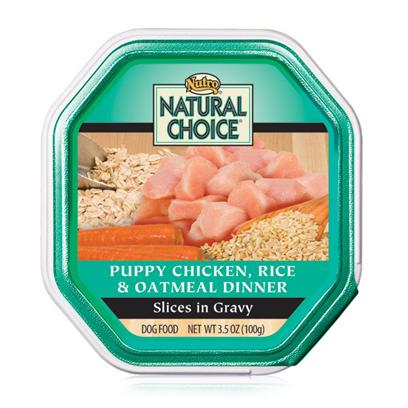 Nutro Presents Nutro Natural Choice Small Breed Puppy Chicken Oatmeal and Whole Brown Rice Recipe 3.5oz Cans/Case of 24. Nutro Natural Choice Puppy Food is One of the Premier Choices for all Dog Breeds. With an Excellent Selection of Meats and Vegetables, Serving a Delicious and Nutritious Meal to your Pet is Easier than Ever. Guaranteed to Meet all your PetS Nutritional Needs and Aid Healthy Development, Nutro Natural Choice Comes in a Variety of Great Flavors Like Beef and Vegetable, Chicken and Rice and Oat, Lamb and Rice, Chicken and Oatmeal, and Chicken and Rice. Help your Puppy on the Road to a Good Lifestyle by Building Strong Bones and Muscles and Encouraging Both Mental and Physical Development with Nutro Natural Choice for Puppies. Primary Protein Source Chicken Primary Carb Source Chicken Analysis Crude Protein (Minimum) 9.00% Crude Fat (Minimum) 5.50% Crude Fiber (Maximum) 1.00% Moisture (Maximum) 78.00% Linoleic Acid (Minimum) 1.10% Zinc (Minimum) 80 Mg/Kg Ascorbic Acid (Vit. C) (Minimum)* 13 Mg/Kg *not Recognized as an Essential Nutrient by the Aafco Dog Food Nutrient Profiles. [36026]